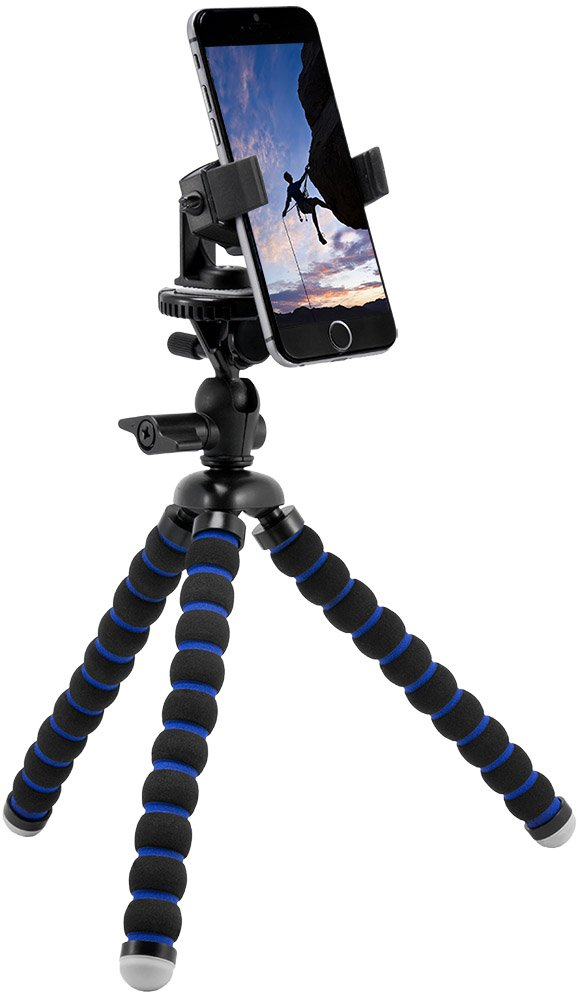 quality design 8cbe9 46490 Arkon iPhone Tripod Mount for iPhone X iPhone 8 7 6S Plus iPhone 8 7 6S  Galaxy Note 8 5 S8 S7 Retail Black