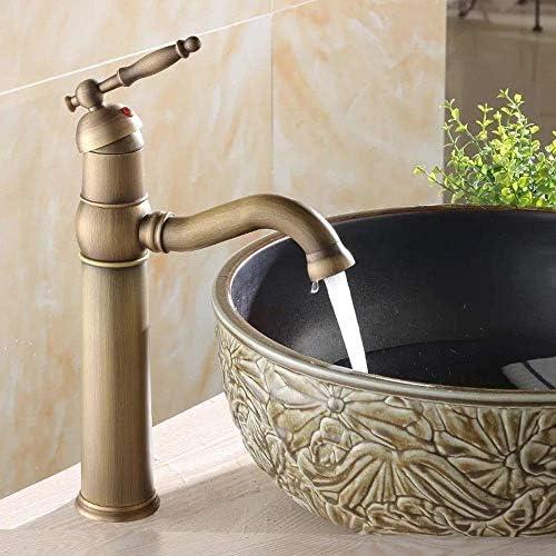 ZJN-JN 蛇口 流域の蛇口浴室タップ銅ホットとコールドミックスアンティーク回転可能ディッシュ洗面洗面台の蛇口浴室用タップ 台付