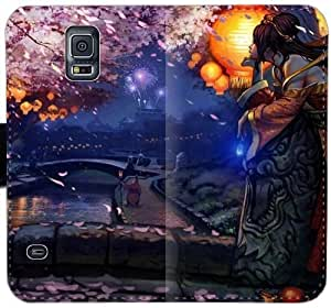 Sona League Of Legendss N4O9Q Funda Samsung Galaxy S5 caja de cuero funda 05iBC2 el caso del tirón del teléfono celular único funda Activo
