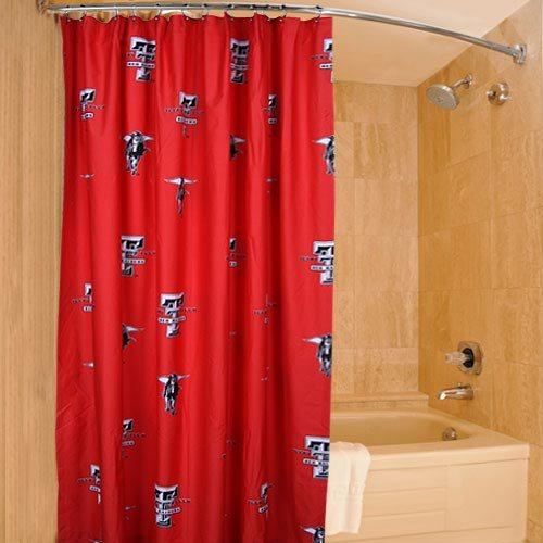 College Covers Texas Tech Red Raiders Printed Shower Curtain Cover - 70
