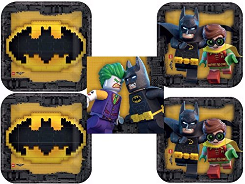 Lego Batman Movie Dinner Plates, Dessert Plates and Lunch Napkins for 16