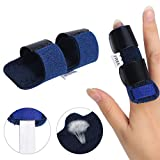 Finger Spint/Mallet Finger Brace, Adjustable Fixing Belt with Built-in aluminium support for Finger Tendon Release & Pain Relief