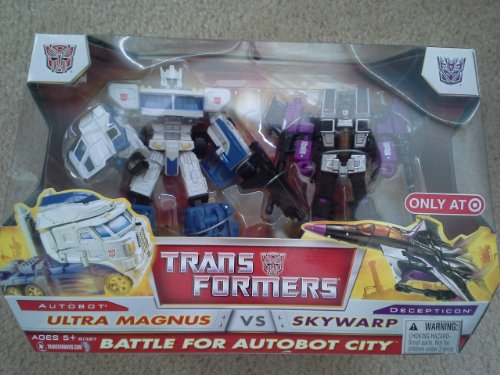 (Transformers Classic Voyager Battle for Autobot City Ultra Magnus VS Skywarp )