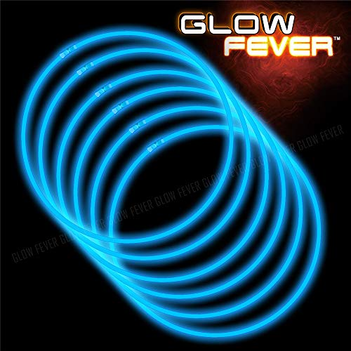 Glow Sticks Bulk 100ct 22'' Glow Necklaces with Connectors, for Party Festivals Raves Birthday Wedding, Blue