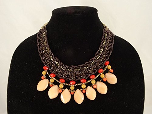 New Leather & Genuine Stone Necklace from Coldwater Creek Store #N2224
