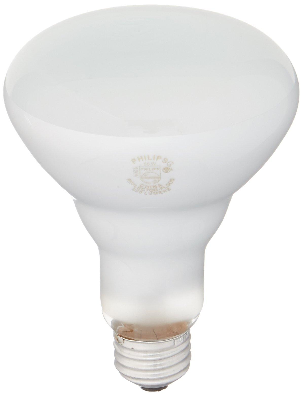 Philips 248872 Soft White 65-Watt BR30 Indoor Flood Light Bulb, 12-Pack