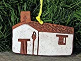 4'' Christmas Tree Ornament Nuestra Senora de la Soledad California Mission Church Southwest Handmade Terracotta Clay Art Holiday Decor