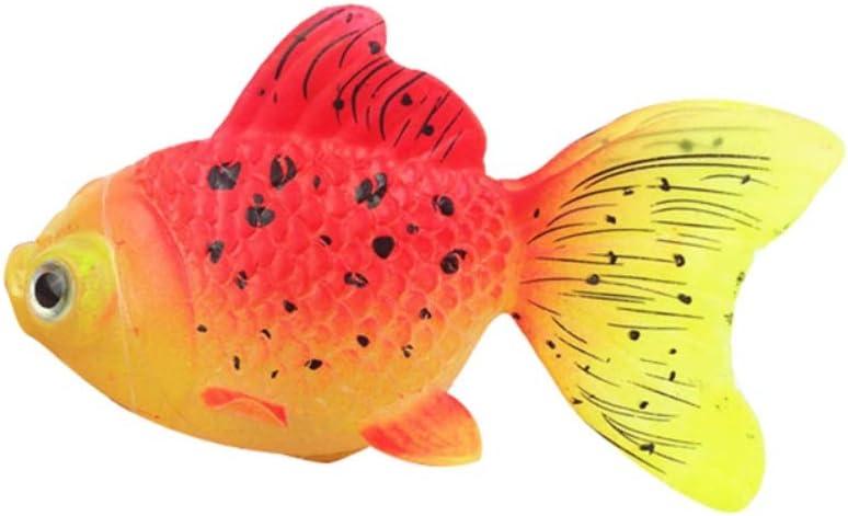 Silicone Goldfish Pattern Glow Fake Fish Floating Decorations Ornament PanDaDa 1pc Aquarium Fish Tank Decorations