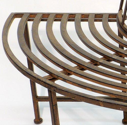 B151cm Gartenbank Sitzbank Bank *Asolo* Halbrund Antik Metall