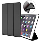 iPad Air 1 Case - ZOYU Ultra Slim Lightweight Smart PU Leather For iPad 5th Generation Case With Magnetic Auto Wake And Sleep /9.7 inch iPad Air Covers /iPad Case for iPad Air/iPad5 (ipad air Black)