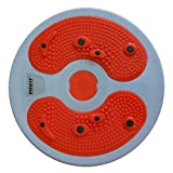 Waist Twisting Disc Figure Trimmer Multifunction Magnet Balance Rotating Board - Orange + White