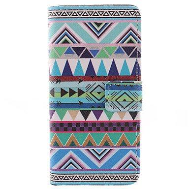 Wkae triangle motif tribal étui en cuir PU complet du corps avec protecteur d'écran et stylet pour iPhone 6 / 6s en plus Wkae Case Cover