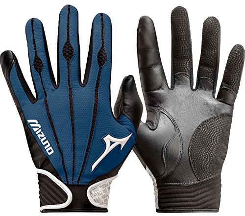 Mizuno Youth Vintage Pro Batting Gloves, Navy, Medium