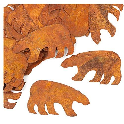 Factory Direct Craft Bulk Package of 100 Rusty Tin Bear Cutouts