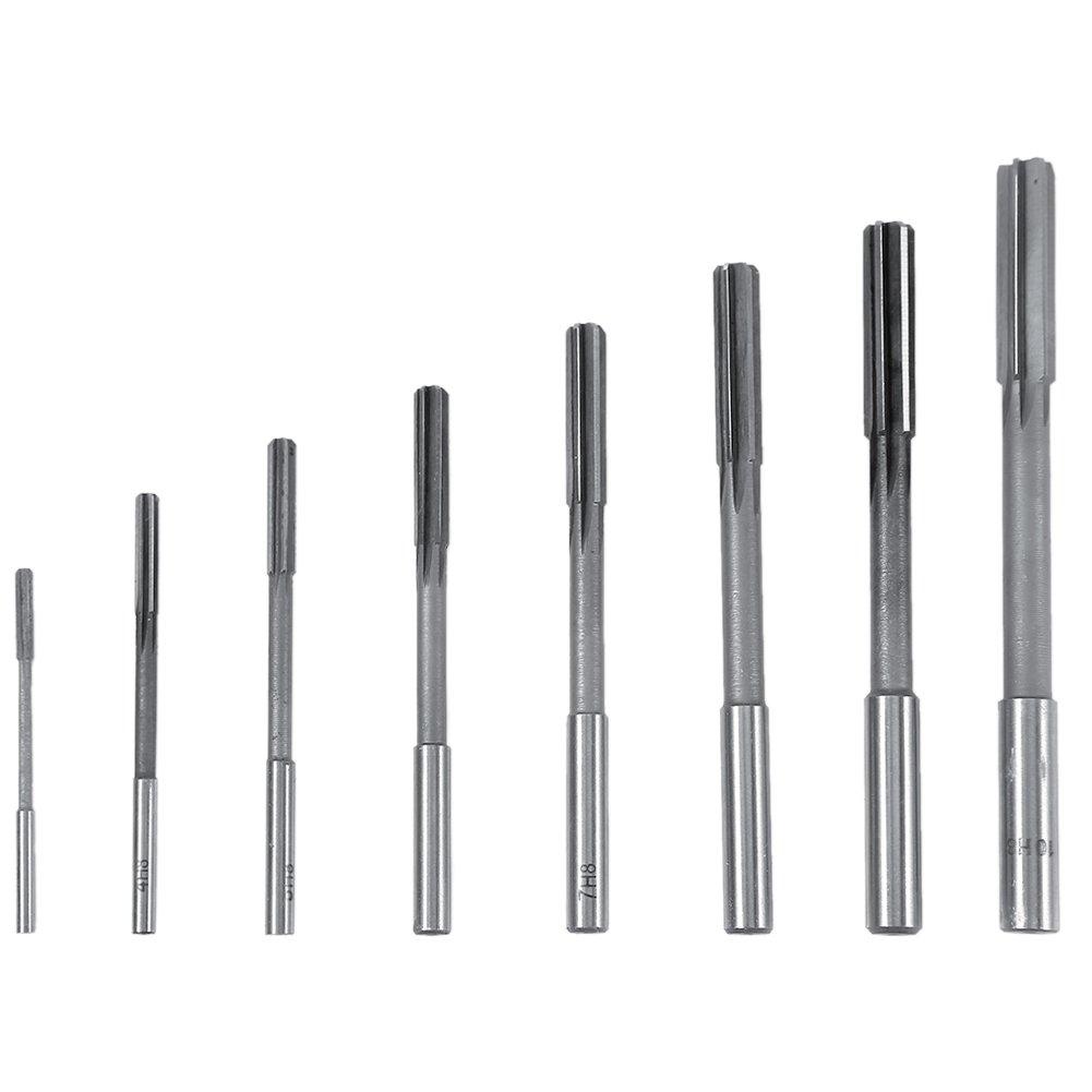 8pcs HSS H8 Straight Shank Chucking Machine Reamer Milling Cutter Tool Set 3/4/5/6/7/8/9/10mm