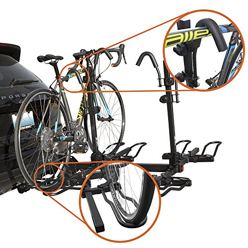 BV Bike Bicycle Hitch Mount Rack Carrier for Car Truck SUV Tray Style...