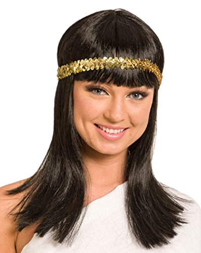 Folat 26830 Egyptian Cleopatra Wig, Black, One Size]()