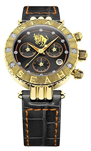 Seah-Galaxy-Zodiac-sign-Taurus-Limited-Edition-38mm-18K-Yellow-Gold-Tone-Swiss-Made-12-carat-Diamond-Watch
