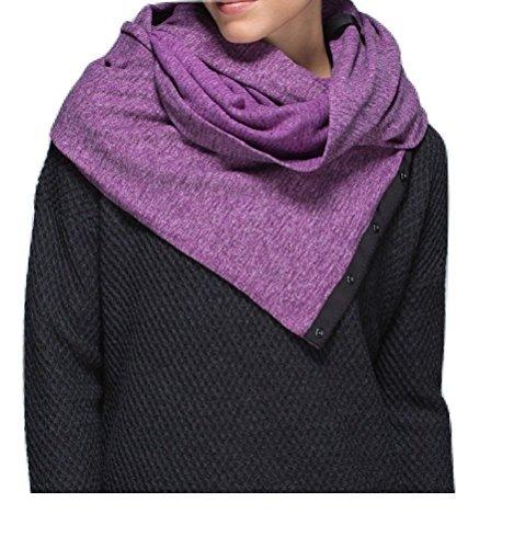 Lululemon Vinyasa Scarf Rulu (Mini Check Pique Heathered Tender Violet)