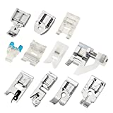 quilting roller foot - Zilong 11 PCS Domestic Sewing Machine Snap-On Presser Foot Set For Singer, Brother, Janome, Kenmore, Babylock, Pfaff, Simplicity And Low Shank Sewing Machines