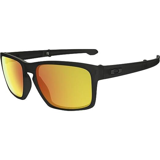 Image Unavailable. Image not available for. Color  Oakley Men s Sliver F  Matte Black Ink w  Fire Iridium Polarized Sunglasses 7db31e335b