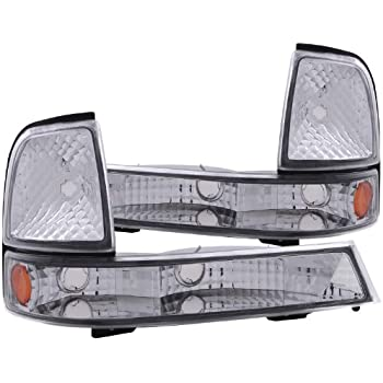 Anzo USA 511038 Chevrolet S10 Chrome Euro w//Amber Reflector Parking Light Assembly Sold in Pairs