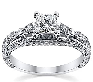 0 50 carat discount engagement ring with princess cut