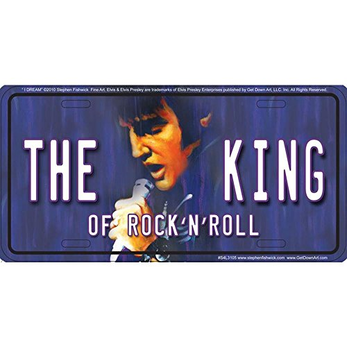Signs 4 Fun S4L3105 Elvis The King License Plate ()