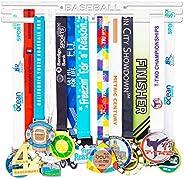 Baseball Medal Display Holder Rack Frame,Running Medal Display Rack,Medal Hanger Holder for Runners,Trophy She