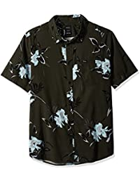Men's Moonflower Short Sleeve Woven Button Down Shirt
