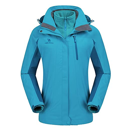 a4826b607 CAMEL CROWN Women Ski Waterproof Fleece Jacket