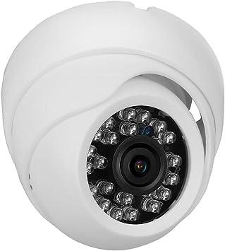 HD Cámara Domo con Cable, Cámara de Seguridad de vigilancia + Monitoreo Remoto en Tiempo Real + Visión Nocturna para Exteriores/hogares(NTSC)