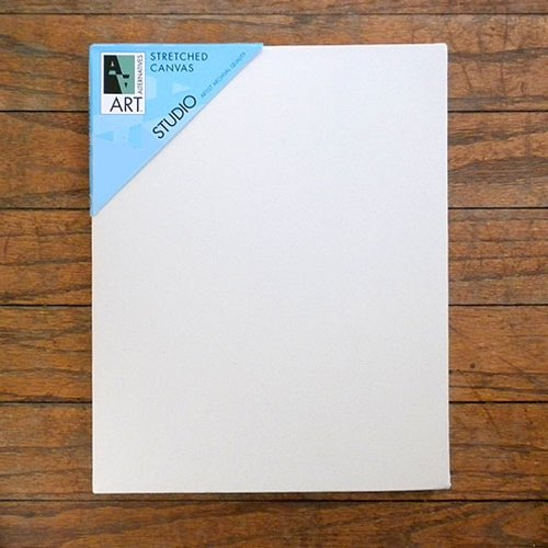 Art Alternatives 24 x 48 inch Pre-Stretched Studio Canvas (Pack of 5 Canvasses) by Art Alternatives