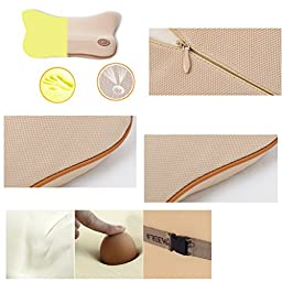 KEEPING Memory Foam Auto Car Seat Cushion Lumbar Pillow Back Waist Support (Lumbar pillow, Black)