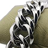 LINSION HipHop Various Length Huge Heavy 316L Stainless Steel Mens Biker Rocker Punk Bracelet 5E017 (11 Inches)
