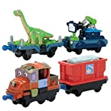 Chuggington StackTrack Duo Value Pack Die Cast Toy Train Set Includes Dinosaur & Camera and Hodge & Hopper Cars by Power Brand