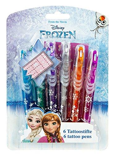 Undercover FRQA3300 - Tattoo Stifte Disney Frozen, 6-er Set