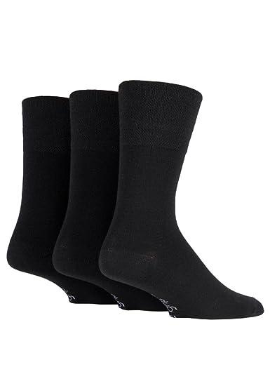 Gentle Grip 3 pares calcetines hombre lana finos sin elastico para circulacion 39-45 eur