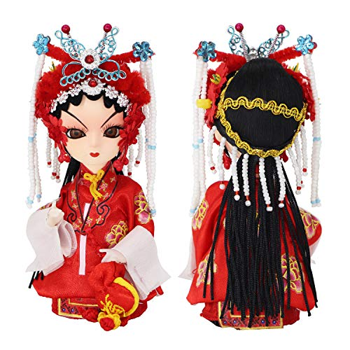 """JG.Eshadoll Chinese Opera Dolls Traditional Dolls Bride Doll Mascots Souvenir Gift Box Packed for Xmas Seasonal Home Office Decorative (Red-Bride, 5"""")"""