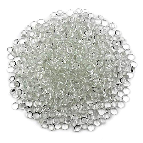 Floral Glass Bead Accents - Gemnique Mini Glass Gems - Clear (48 oz.)