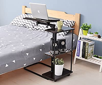 UNICOO Height Adjustable Laptop Cart Overbed Table, Sofa Side Table, Couch Table, Sofa End Table 102