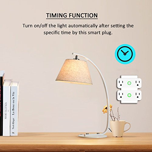 AOCOBOOK Smart Socket Dual Outlet Compatible with Alexa and Google Assistant,Remote Control Outlet with Timing Function,No Hub Required,Mini smart plug 2 in 1 by AOCOBOOK (Image #6)
