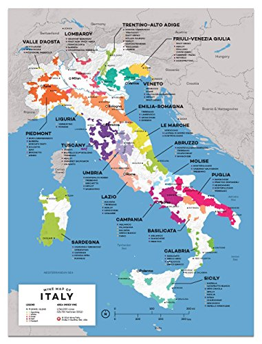 Wine Folly Italy Wine Map Poster Print, 12