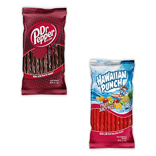 Kenny's Juicy Twists - Dr. Pepper and Hawaiian Punch - Variety 2 Pack - Nt. Weight 10 oz - Fresh Product (Dr Pepper Gift Baskets)