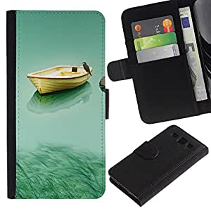 All Phone Most Case / Oferta Especial Cáscara Funda de cuero Monedero Cubierta de proteccion Caso / Wallet Case for Samsung Galaxy S3 III I9300 // Boat & Owl