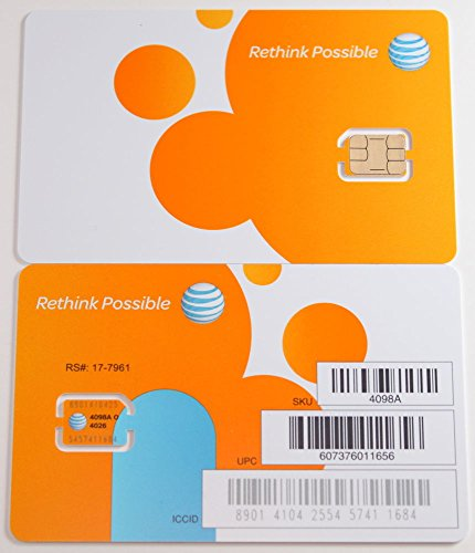 AT&T Nano SIM Card (4FF) for iPhone 5, 5C, 5S, 6, 6 Plus, iPad Air, Galaxy S6, S6 Edge, and Note 5 with TrendON SIM Ejection Tool