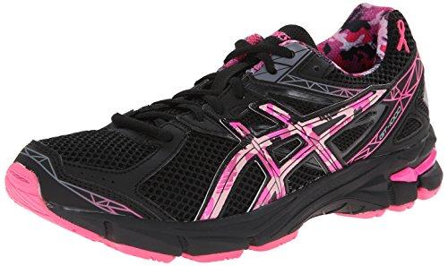 ASICS GT 1000 3 GS PR Running Shoe,Black/Hot Pink/Pink Ribbon,4 M US Big Kid