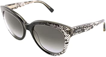 Valentino Womens Round Translucent Sunglasses