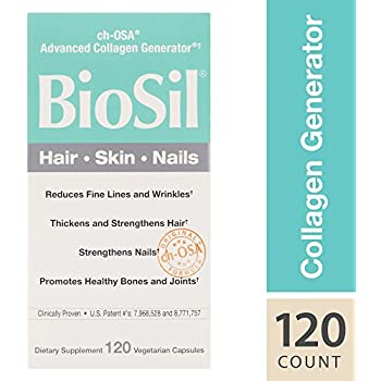 BioSil - Hair, Skin, Nails, Natural Nourishment For Your Body's Beauty Proteins, 120 Capsules (FFP)