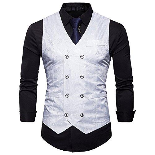 Cyparissus Mens Business Suit Vest Waistcoat Men's Dress Vest or Tuxedo Vest (XXL, (Vested Tuxedo Suit)